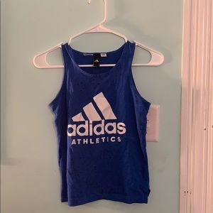 athletic adidas working out top